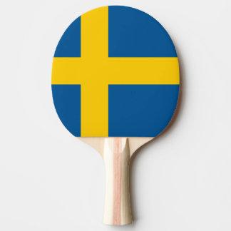 Paleta sueca del ping-pong de la bandera para los  pala de tenis de mesa