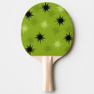 Paleta verde atómica del ping-pong de Starbursts Pala De Tenis De Mesa