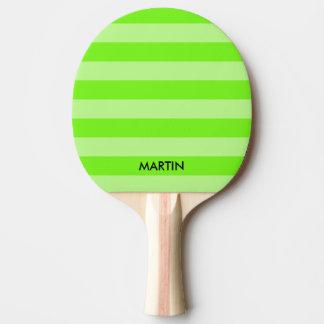 Paleta verde de neón del ping-pong de los tenis de pala de ping pong