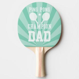 Paleta verde del campeón del ping-pong del papá pala de ping pong
