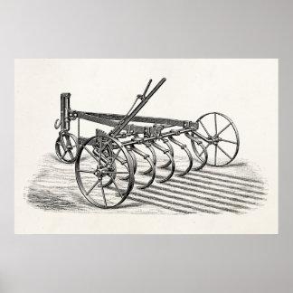 Paleta vieja de la agricultura del equipamiento ag posters