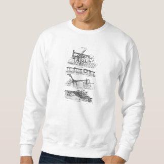 Paleta vieja de la agricultura del equipamiento suéter