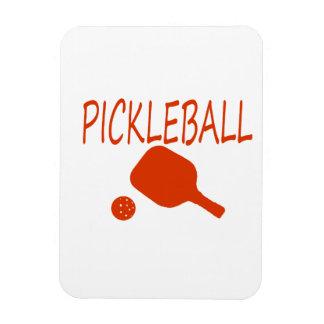 paleta y bola del pickleball w anaranjado oscuro imanes flexibles