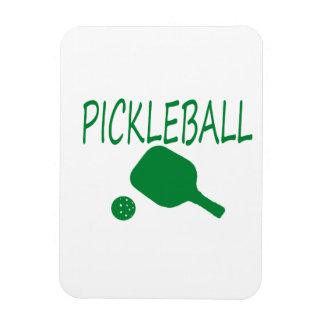 paleta y bola del pickleball w verdes claras imanes