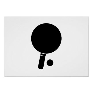 Paleta y bola del ping-pong impresiones