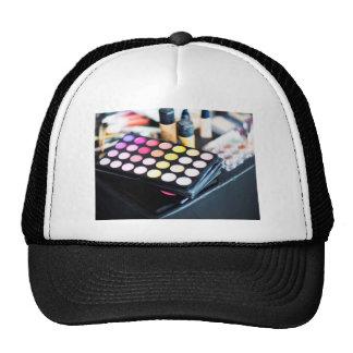 Paleta y cepillos - impresión del maquillaje de la gorras