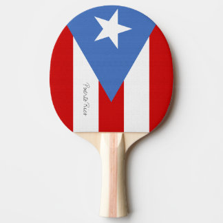 Paletas Bandera de Puerto Rico Ping Pong Paddle