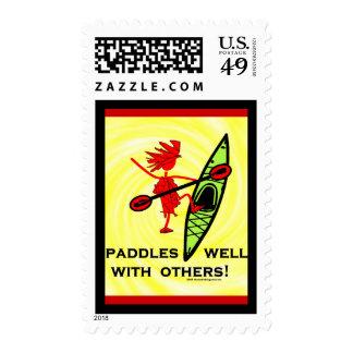 Paletas bien con otra timbre postal