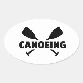 Paletas cruzadas Canoeing Calcomanía De Óval