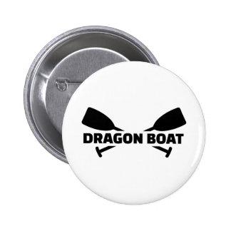 Paletas del barco del dragón pin redondo 5 cm