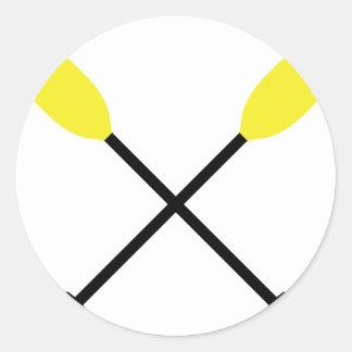paletas del kajak cruzadas etiqueta