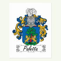Paletta Family Crest Postcard