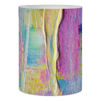 Palette Knife Abstract Painting Flameless Candle