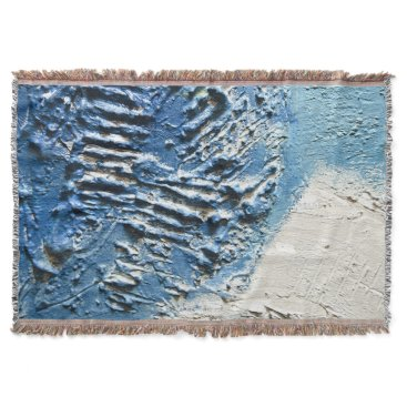 Beach Themed Palette Knife Painting Contemporary Throw