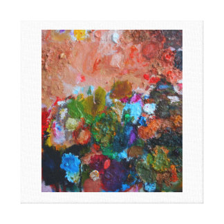 Palette of the Artist Canvas Print