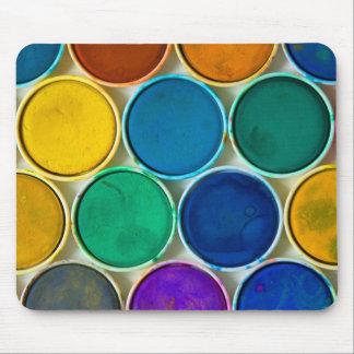 Palette of watercolors alfombrillas de raton