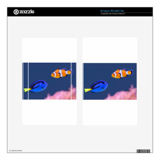Palette surgeonfish and clown fish swimming kindle fire decal