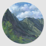 Pali Lookout, O'ahu Round Sticker
