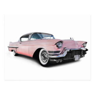 Palidezca - Cadillac rosado Tarjeta Postal