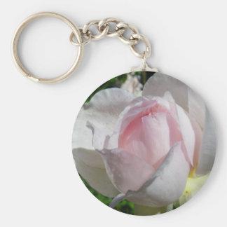 Palidezca - color de rosa rosado llavero redondo tipo pin