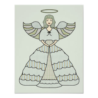 """Palidezca - el ángel verde del remiendo invitación 4.25"""" x 5.5"""""""