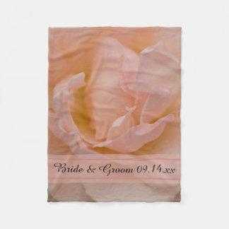 Palidezca - el boda color de rosa rosado manta de forro polar