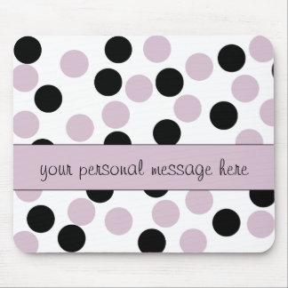 Palidezca - el cojín de ratón rosado y negro del mouse pad