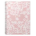 Palidezca - el cordón rosado, blanco, vintage, notebook
