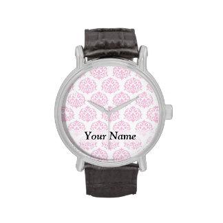 Palidezca - el damasco rosado reloj