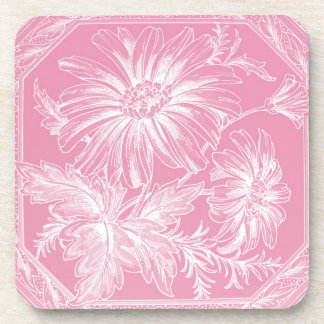 Palidezca - el diseño gráfico de la flor rosada posavaso
