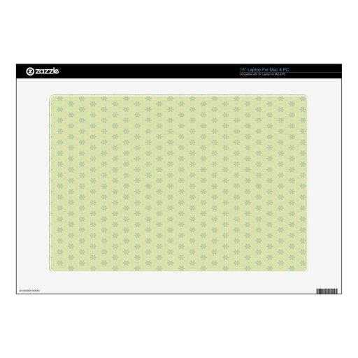 Palidezca - el estampado de plores verde calcomanía para 38,1cm portátil