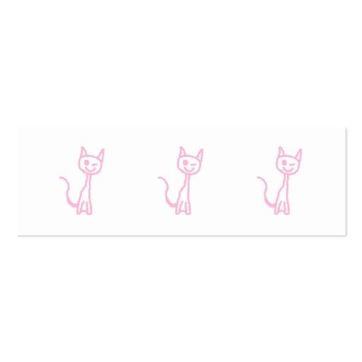 Palidezca - el gato rosado, guiñando tarjetas personales