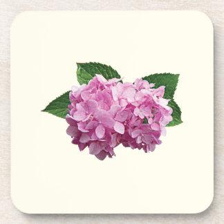 Palidezca - el Hydrangea rosado Posavasos De Bebidas