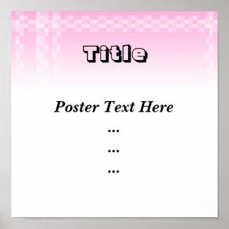 Palidezca - el modelo de las casillas blancas rosa impresiones