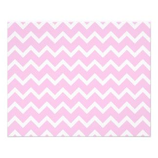"""Palidezca - el modelo de zigzag rosado y blanco folleto 4.5"""" x 5.6"""""""