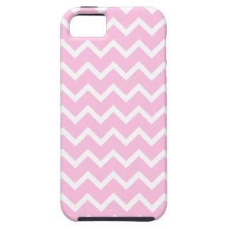 Palidezca - el modelo de zigzag rosado y blanco iPhone 5 carcasas