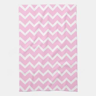 Palidezca - el modelo de zigzag rosado y blanco toalla