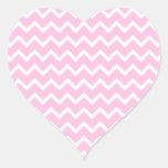 Palidezca - el modelo de zigzag rosado y blanco pegatinas