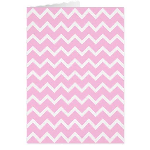 Palidezca - el modelo de zigzag rosado y blanco felicitaciones