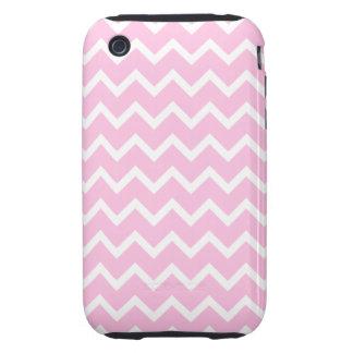 Palidezca - el modelo de zigzag rosado y blanco tough iPhone 3 carcasas