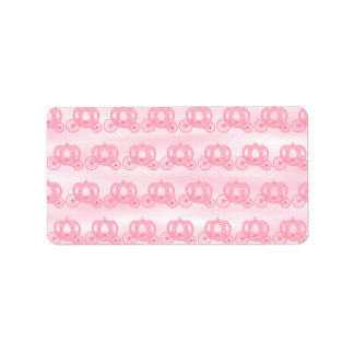 Palidezca - el modelo rosado de princesa Carriages Etiqueta De Dirección