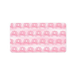 Palidezca - el modelo rosado de princesa Carriages Etiquetas De Dirección
