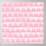 Palidezca - el modelo rosado de princesa Carriages Impresiones