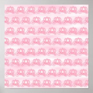 Palidezca - el modelo rosado de princesa Carriages Póster
