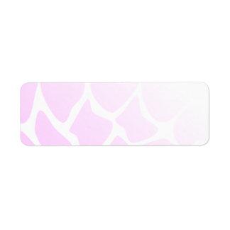 Palidezca - el modelo rosado etiquetas de remite