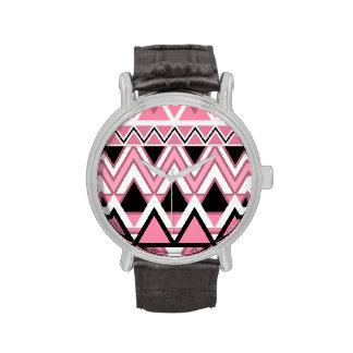 Palidezca - el modelo tribal rosado reloj de mano