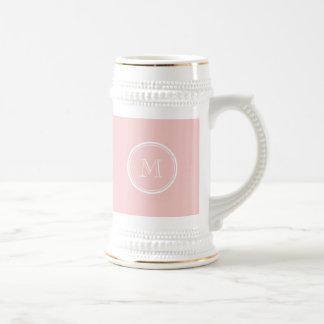 Palidezca - el monograma coloreado parte alta jarra de cerveza