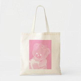 Palidezca - el oso de peluche rosado para los chic bolsas