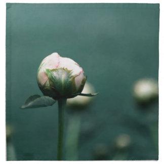 Palidezca - el Peony rosado en verde azul del Servilleta Imprimida