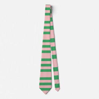 Palidezca - el personalizado rosado y verde de las corbatas personalizadas